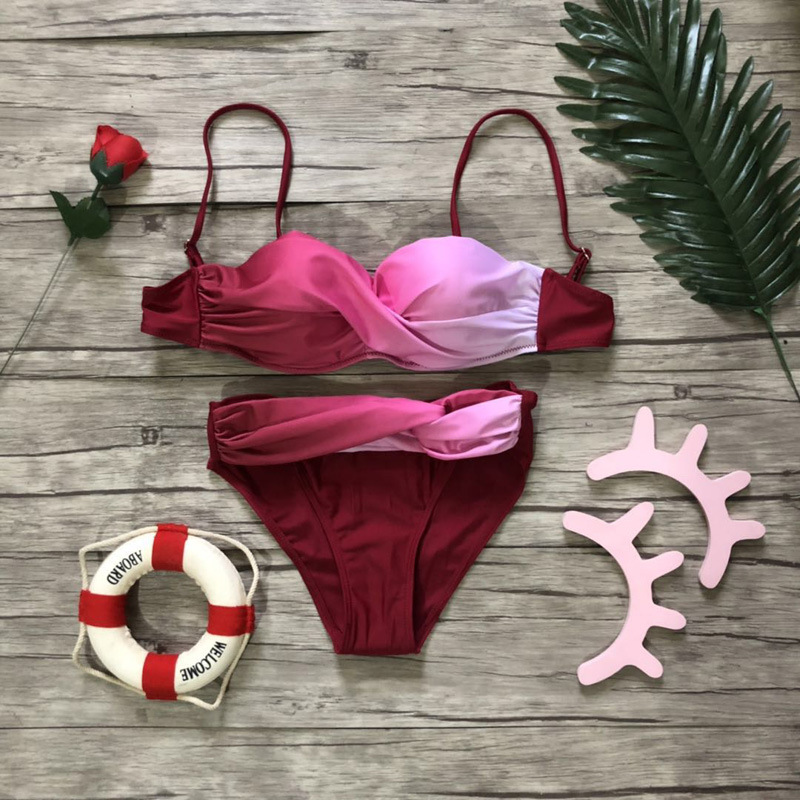 HTB166Ppa.LrK1Rjy0Fjq6zYXFXaC Women Sexy Print Swimwear 2019 New Female Two Piece Swimsuit Female Separate Push Up Bikini Set Beach Bathing Suit Micro Bikini