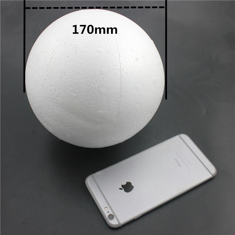 1 шт. 170 мм моделирование пенополистирол пенопласт пены мяч белый авторские шары для DIY для рождественской вечеринки украшения поставки подарки