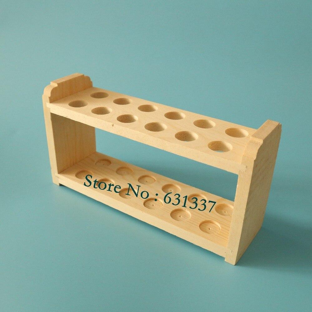 Laboratory 12 Holes Wooden Test Tube Rack Holder Without Peg