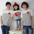De los niños del bebé de los muchachos del verano rayas camisetas family pack madre e hija coincidencia ropa , D803