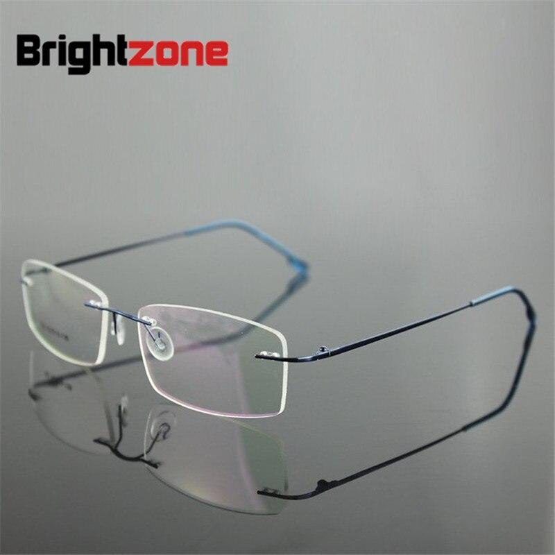 6 Marcos colores hingless memoria no tornillo titanio metal plegable brazo ojo Gafas prescripción gafas RX Gafas óptico Marcos