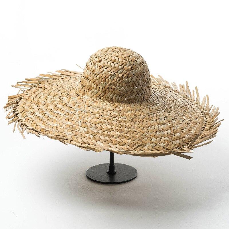 01811-HH7259 summer Europe United States Hand-woven tassel holiday leisure straw fedoras cap men women paper hat