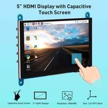 Портативный сенсорный экран электрическая 5 дюймов hdmi 800x480