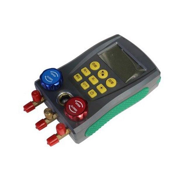 Цифровой манометр холодильного Давление тестер HAVC 2-ходовой клапан инструмент-M25