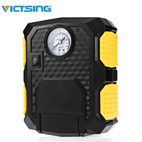 VicTsing Car Tire Inflator Pump 12V Air Compressor with LED Light Portable DC 12V Air Compressor Car Tyre Inflator 3m Cable