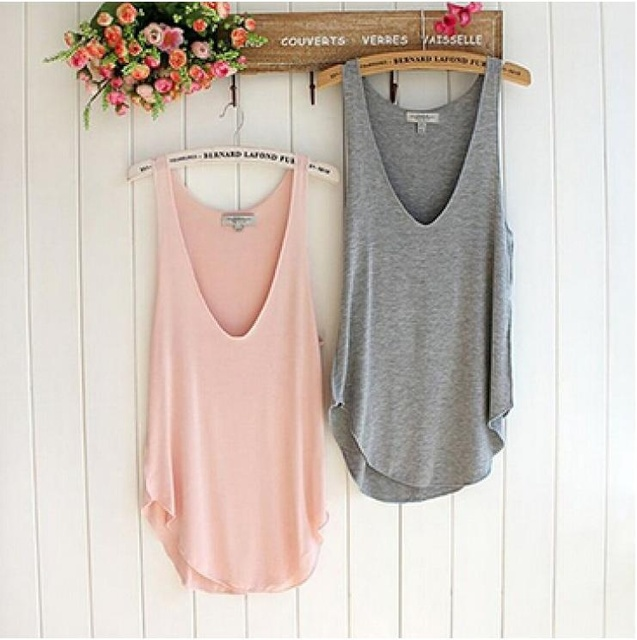 02034371a909 Wonderful Fashion Summer Woman Lady Sleeveless V-Neck Candy Vest Loose Tank  Tops T-shirt. Price: