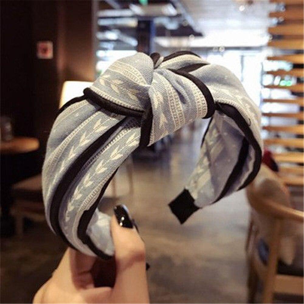 @1  Девушки женская повязка на голову йога упругая симпатичная резинка для волос тюрбан завязанная лента ✔