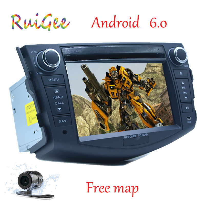 Quad Core 1024*600 HD écran 2Din Android 7.1 voiture DVD pour Toyota Rav 4 RAV4 Audio vidéo stéréo GPS Navigation Radio RDS 4G Wifi