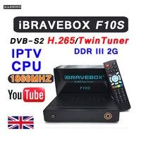 Forte iBRAVEBOX F10S decoder box DVB T2 Tuner ricevitore satellitare iptv Un pacchetto di un anno di abbonamento H.265 UK canali