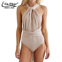 Nude Bodysuit Women Rompers Elia Cher Brand 2015 Plus Size Casual Women Clothing Chic Fashion Sexy