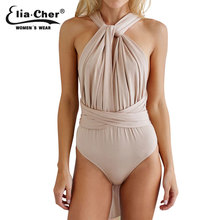 Nude Bodysuit Women Rompers Elia Cher Brand Новое Поступление Plus Size Casual Women Clothing Chic Fashion Sexy Lady Jumpsuits Rompers
