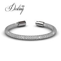 Destiny Jewellery Crystal Bracelet Brass With 18K Gold White Plated Made With Swarovski Elements