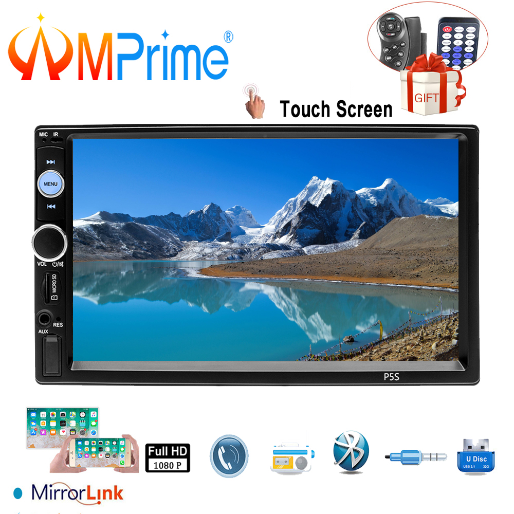 AMPrime 2 Din Car Radio Bluetooth AUX USB 2din Car Multimedia Player HD Touch Screen Autoradio Android Mirror Link Audio StereoAMPrime 2 Din Car Radio Bluetooth AUX USB 2din Car Multimedia Player HD Touch Screen Autoradio Android Mirror Link Audio Stereo