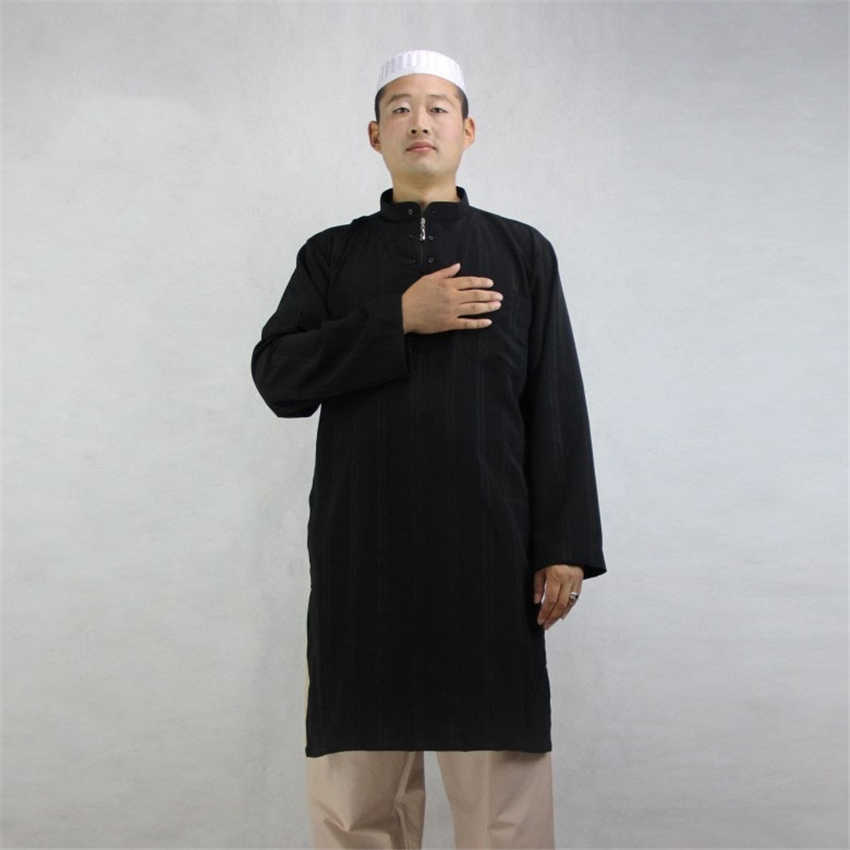 793ec131ac9 Detail Feedback Questions about Men Muslim Clothes Jubba Thobe Islamic  Clothing Fashion Robes Autumn Winter Thicken Dubai Arab Eid Traditional for  Man ...