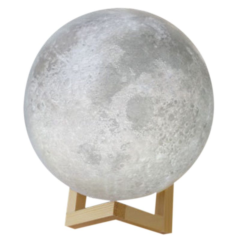 3D USB LED Magical Moon Night Light Moonlight Table Desk Moon Lamp Home Decor 20cm magnetic floating levitation 3d print moon lamp led night light 2 color auto change moon light home decor creative birthday gift