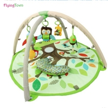 FlyingTown 92cm Play Mat New friendly forest Baby Blanket Inflant Cartoon Game Play Mats Carpet Child Toy Climb Mat Indoor Gift 2017 hot sale fashion baby blanket game mat bear blanket baby tiger blanket animal carpet warm bear play mats autumn winter