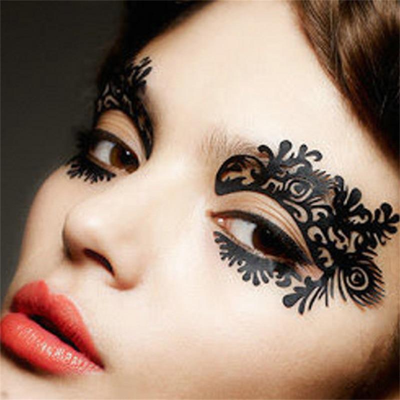 1 pair eye sticker diy flower temporary eye tattoo for Eye temporary tattoo makeup