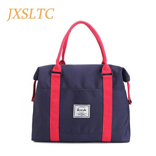 4b108db89d9a JXSLTC Women Travel Bags Large Capacity Luggage Canvas