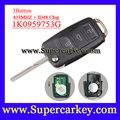 Frete grátis (1 peça) 1K0 959 753G 1K0959753G Flip Transmissor Remoto Chave Para VW VOLKSWAGEN ASSENTO 434 MHZ Com Chip ID48