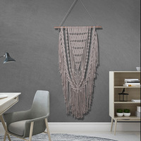 Hand Knotted Macrame Wall Art Crocheted Handmade Cotton Boho Wall Hanging Tapestry With Lace Bohemian Boho Wedding Decor