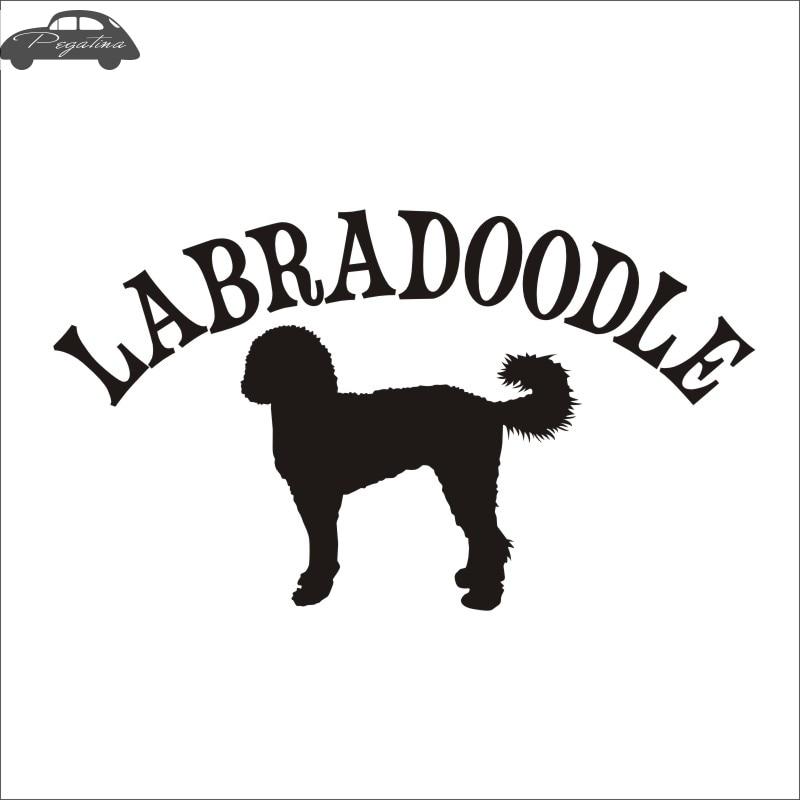 Car LABRADOODLE Car Pet Shop Sticker Dog Decal Posters Vinyl Wall Art Decals Pegatina Quadro Parede Decor Mural Pet Shop Sticker