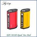 Original ijoy maxo quad 18650 caja mod 315 w powered by vpae quad o dos 18650 baterías de cigarrillos electrónicos mod caja