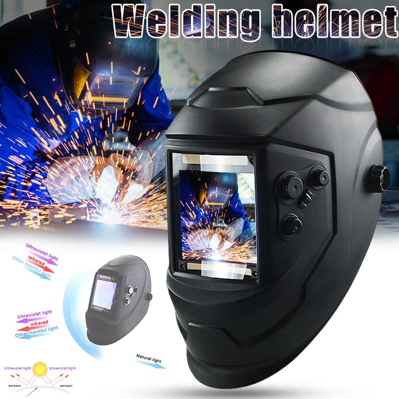 Duży widok kask spawalniczy Eara 4 czujnik łuku DIN5-DIN13 automatyczne przyciemnianie słoneczne gogle-M25