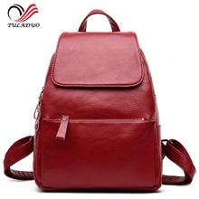 Women Soft Genuine Leather Ladies Backpack high quality shoulder bags backpacks for teenage girls Preppy Style Travel School Bag