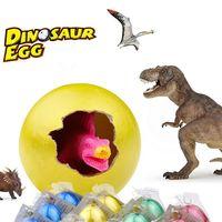 12 יחידות קסם גידול בקיעת ביצי דינוזאור צבעוני מים לגדול צעצועי חידוש לילדים מתנות צעצועי Creative יום הולדת Eduactional