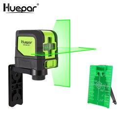 Huepar 2 líneas láser nivelador automático (4 grados) Rayo rojo verde láser Horizontal y Vertical línea cruzada con Base magnética