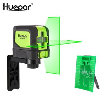 Huepar 2 linie poziom lasera samopoziomujący (4 stopnie) zielona czerwona belka Laser poziome i krzyżujące się pionowo z podstawa magnetyczna tanie i dobre opinie Pionowe i Poziome Lasery 7 5x6 5x7 5cm(3 x2 6 x3 ) 510nm 635nm +-3mm 10m 9011G 9011R Huepar Green or Red Laser level Line Laser