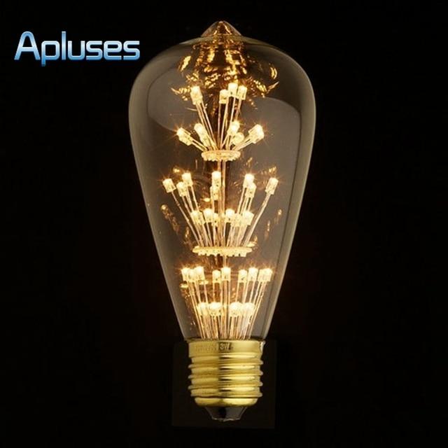 Antique Retro Vintage Edison Light Bulb E27 220V 3W Incandescent Light Bulbs ST64 A19 G95 led Cob Bulb Edison Lamps Fixtures