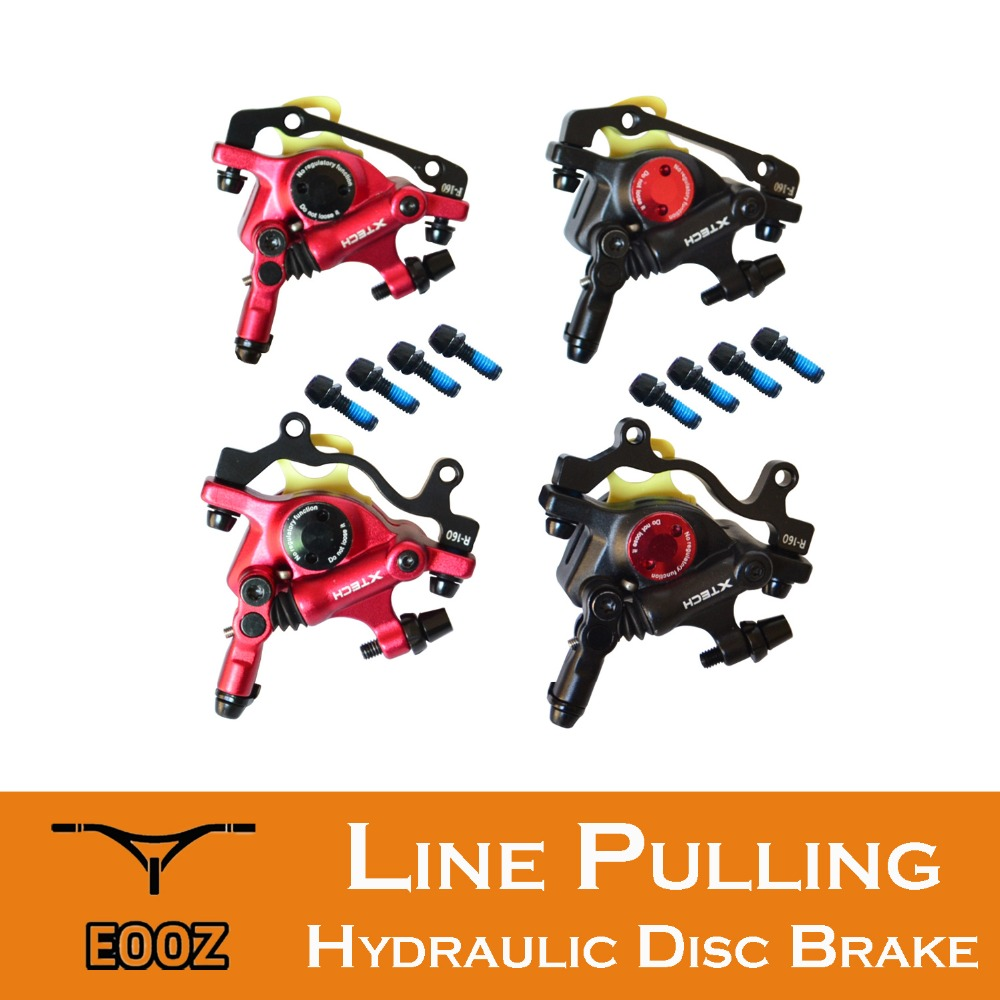 ZOOM MTB Road Line Pulling Hydraulic Disc Brake Calipers Front & Rear 1 pair disk brake line pulling mtb hydraulic disc brake calipers for front
