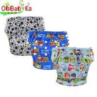 Ohbabyka Baby Boys Bamboo Traning Pants Adorable Cloth Diapers Infant Babies Underwear Toddler Underpant Kids Clothes