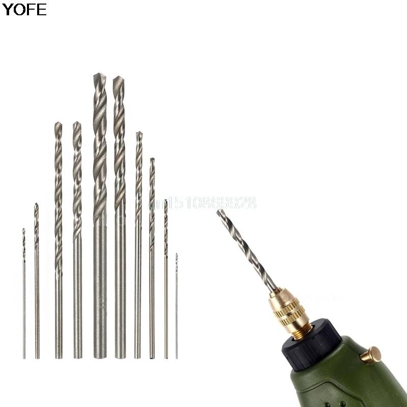 10Pcs Drill Bit HSS High Speed White Steel Twist Drill Bit Set For Dremel Rotary Tool New