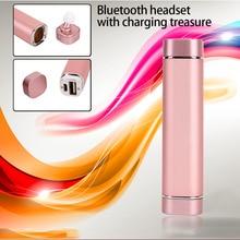 K1 Wireless Mini Bluetooth Earphone Handsfree With 900mA Power Bank In Ear Headset Music Stereo Single Ear Headset
