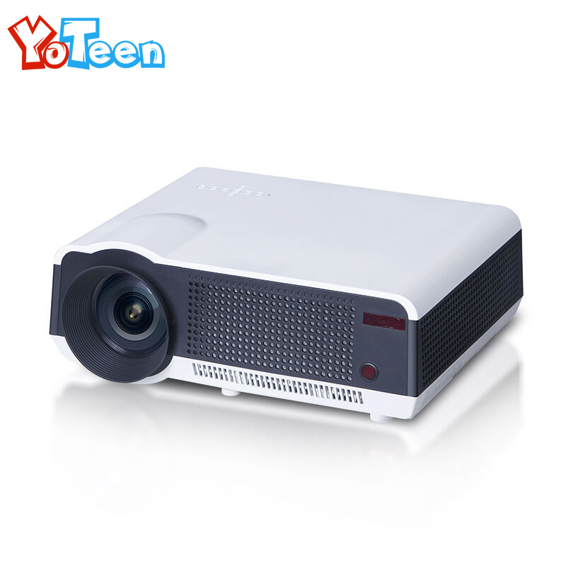 Yoteen LED86 3D Projector HDMI Home Theater Beamer Multimedia Full HD Video Projector LCD PJR Real 2500 Lumens Home Theater Use