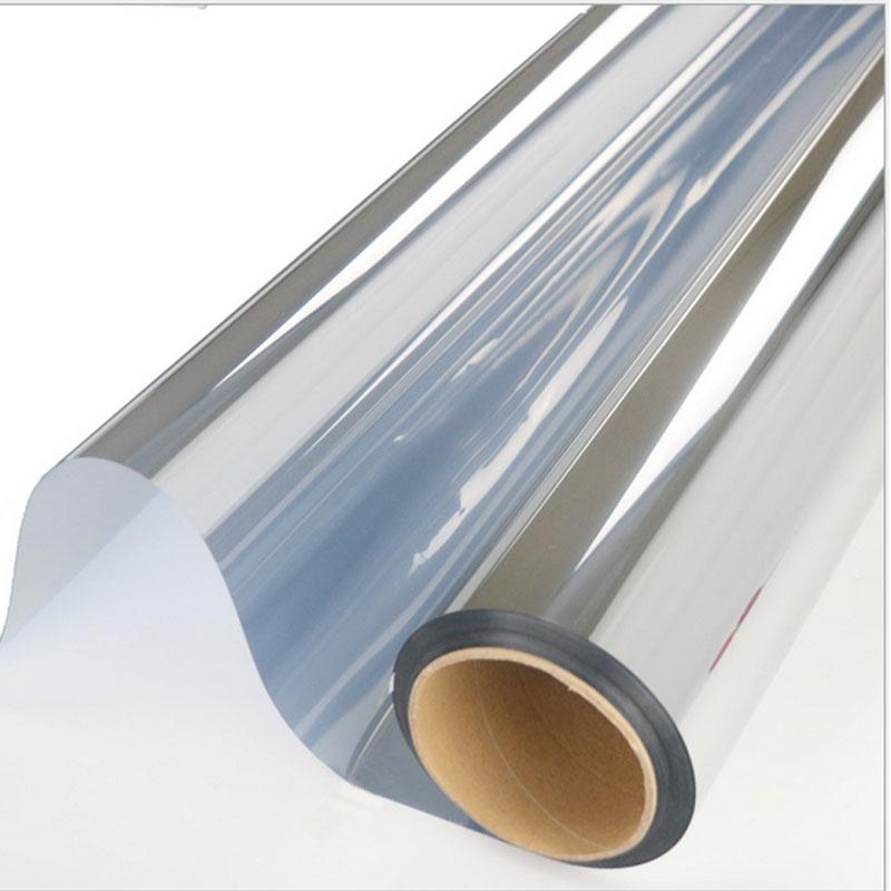 Custom size Silver Insulation Window Film PET Stickers Solar Reflective Drop-Shipping One Way Mirror Thermal Control Film 150cm