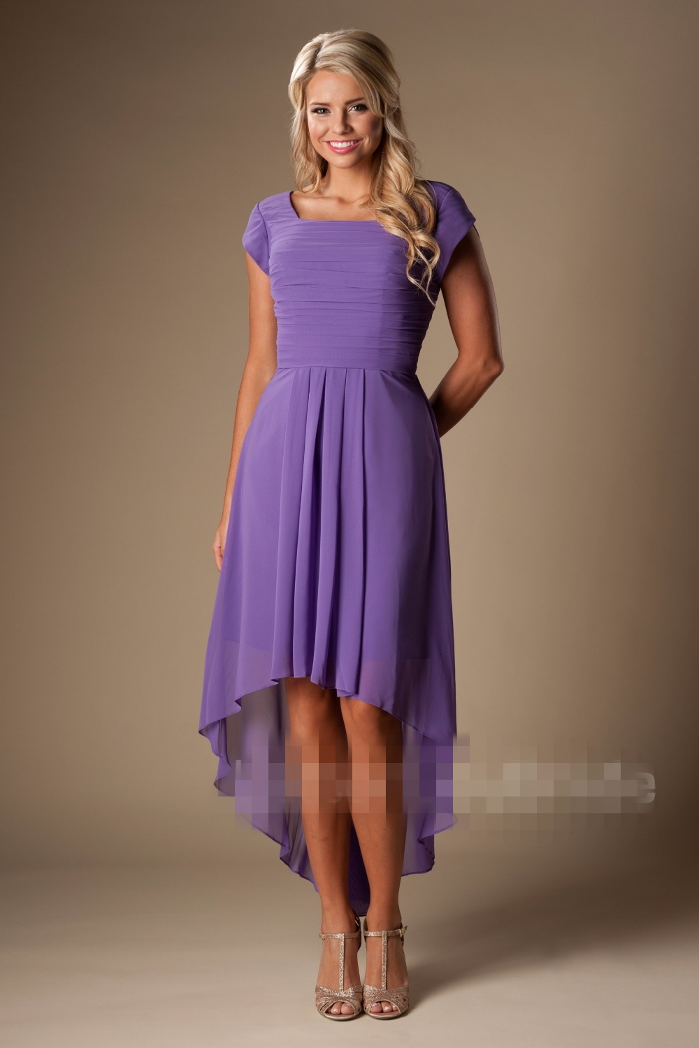 3bf6bc50a773 Purple Modest Bridesmaid Dresses - raveitsafe
