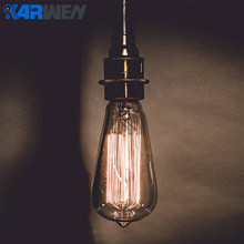 Retro lamp ST64 Vintage Edison bulb 220v Incandescent bulb E27 Wedding lights 40w filament sprial christmas stars for home decor(China)