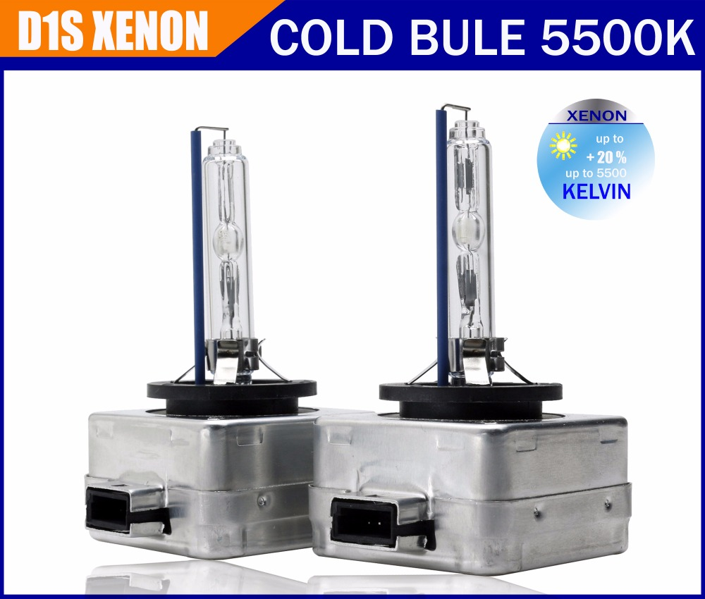 With color box 1 pcs Free shipping Factory sale 100 OEM D1S Xenon HID Cold 5500K