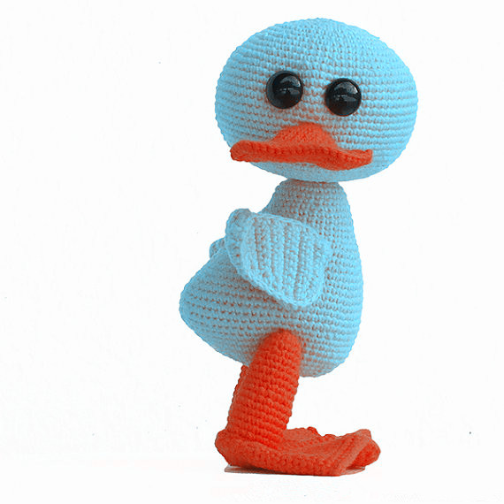 Amigurumi Lovely Duck Rattle Toy