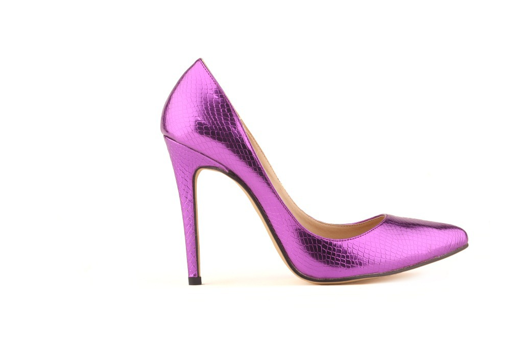 Luxury Light Color Patent Leather High Heels Sexy Metal Thin Heels Pointed  Toe Low Cut Night Club Pumps High Quality Woman Shoes-in Women s Pumps from  Shoes ... 467e6417271e