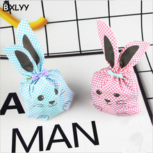 BXLYY 10pc Wedding Decoration Bunny Ears Biscuit Candy Bag Birthday Party Decorations Kids Christmas Gift Box 2019 New Year.7z