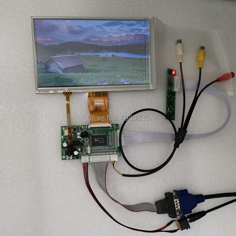 7 inch VGA display module 1024X600 resistance touch display kit AV1 AV2 VGA Display Screen     -