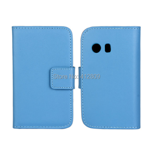 Fashion Genuine Leather Folding Cover for Samsung Galaxy Y S5360 Genuine Wallet Pouch Cover ID Card Holder Cellphone Bags Free