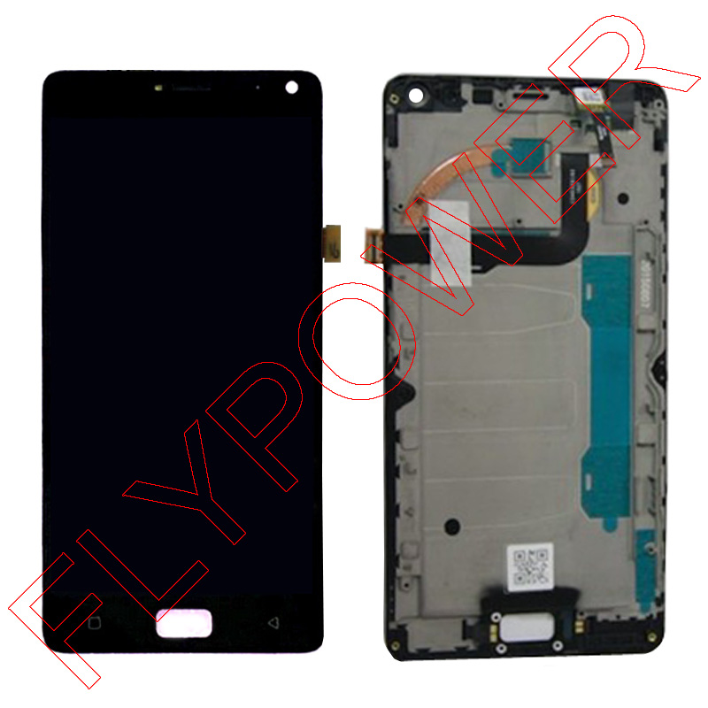 For Lenovo VIBE P1 LCD Screen Display With Touch Screen Digitizer + Frame Assembly Black and Gold color; 100% warranty аксессуар чехол lenovo k10 vibe c2 k10a40 zibelino classico black zcl len k10a40 blk