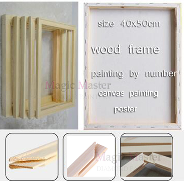 wooden frame use for oil painting/picture by number,canvas painting/poster/spray painting,inner diy frame,photo custom frame