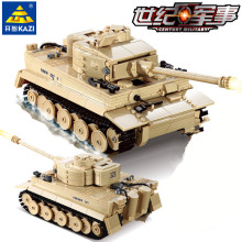 995pcs Century Military German King Tiger Tank Cannon Building Blocks Bricks Model Sets Kazi 82011 Toys