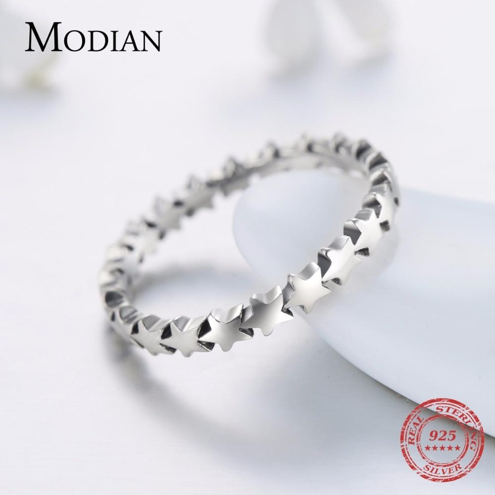 Moidan Orijinal Ulduz Real 925 sterlinq gümüş zərgərlik izi - Moda zərgərlik - Fotoqrafiya 3